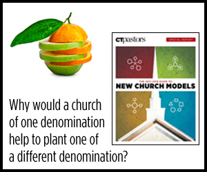 Why would a church of one denomination help to plant one of a different denomination?